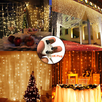 3M LED Fairy String Curtain Window Lights Christmas Xmas Party Waterproof Decor