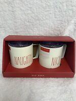 NEW Rae Dunn Christmas Insulated Mug NAUGHTY & NICE Set 2020 *EXPERT SHIPPER*