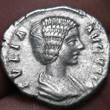 ROMAN COIN SILVER DENARIUS JULIA DOMNA ROME 194-217 AD-VENVS FELIX