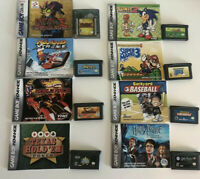 Gameboy Advance Game Lot - Sonic Advance 2 - Super Mario 4 - With Manual - 8 Gam