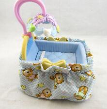 Mattel Fisher Price Loving Family Dollhouse Baby Furniture Blue Crib Bassinet