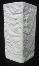 Hutschenreuther Vase 17 cm weiss Schwahn 70er Fossil  Bisquit Porzellan Muschel