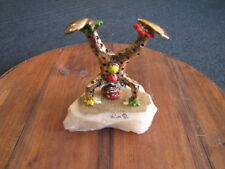Vintage Ron Lee Clown Figure doing Head Stand on Marble Base