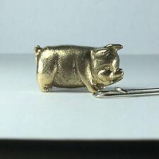 Miniature Figurine Brass Pig Animal Metalwork Art #102