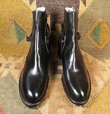 NEW 1940's Kirkendall Black leather Jodhpur boots Omaha Nebraska size USA-6 AAA