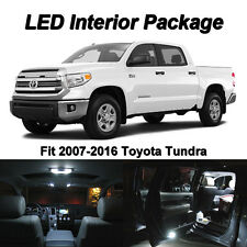 19x White LED Interior Bulbs Kit+ License Plate Lights For 2016 2017 2018 Tundra