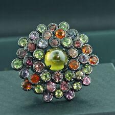 SPINELL Turmalin Ring Meisterwerk UNGLAUBLICH handgeschmiedet 38,5 mm D. RW18,3