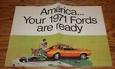 Original 1971 Ford Full Line Sales Brochure Pinto Mustang Torino 71