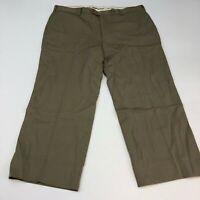 Brooks Brothers Madison Chino Pants Men's Size 40 x 32 Tan Flat Front 100% Wool