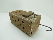 (#2622)  OLD WOOD DUNGENESS CRAB  LOBSTER SHRIMP BAIT TRAP JAR BOX CRAWFISH