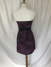 Silence & Noise Purple Strapless Dress M