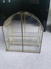 *** Vintage Glass And Brass Display Cabinet ideal for miniatures and curios ***