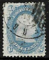 Sc #63 Franklin 1 Cent 1861-1862 Civil War US 3B72