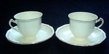 ALFRED MEAKIN Cream Gold cup and saucer sets x2 ( 4 available) c1945