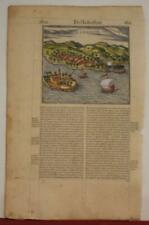 KANNUR INDIA 1575 BELLEFOREST UNUSUAL ANTIQUE WOODCUT CITY VIEW FRENCH EDITION