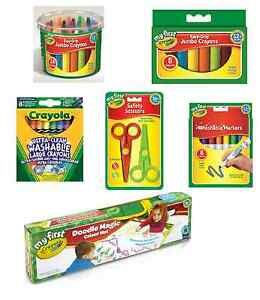 Crayola My First Toddler Colouring Easy Grip Wax Felt Tip Pens Childrens Draw