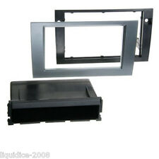 CT24AU27 AUDI A4 ANTHRACITE 2000 to 2006 SINGLE DOUBLE DIN FASCIA ADAPTER PANEL