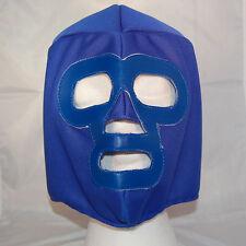 Blue SOLID Lucha Libre Wrestling Mask NEW Luchador wwe tna Halloween Costume