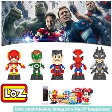 Super heros Batman Spiderman Captain IronmanLOZ iBLOCK Micro Mini NanoBlock