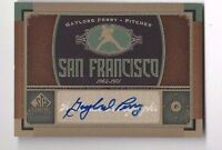 2012 SP Signature autographed baseball card Gaylord Perry, San Francisco Giants
