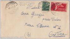 57138 - REPUBBLICA - STORIA POSTALE: ESPRESSI usati come ordinari su BUSTA  1947