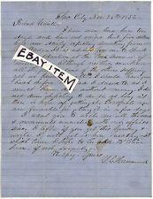 1856 L C HAMMOND LUMBER MAN TIMBER BARON Sacramento California San Francisco LTR