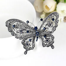 Crystal Rhinestone Butterfly Wedding Bridal Hair Comb Hairpin Clip Barrette Hot.