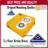 NBD1798  2 X REAR BRAKE DISCS  FOR RENAULT MEGANE I