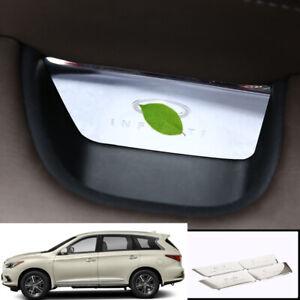 For infiniti QX60 JX35 2013-2020 Silver steel inner door storage box trim 4pcs