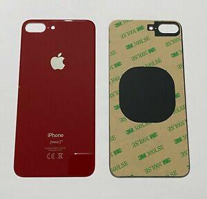 Apple iPhone 8 PLUS OEM Akkudeckel Backcover Glas Rückseite Cover Kleber ROT RED