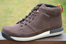 Clarks BNIB Mens Walking Hiking Boots JOHTO HI GTX Dark Brown Nubuck UK 8 / 42