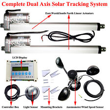 "12V 12"" DC Linear Actuator&LCD Controller&Anemometer DIY Solar Track Sun Tracker"