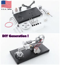 DIY Self-assemble Hot Air Stirling Engine Electricit Motor Model Educational Toy