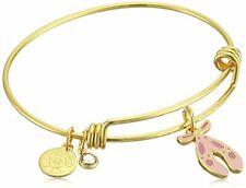 Shiny Gold Bangle Bracelet Halos & Glories, Ballet Shoes