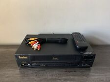 Symphonic VCR VHS Player 4 Head Hi-Fi Video Recorder With Remote & Cables