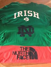 North Face Adidas Notre Dame Men's T-shirts Xl Xxl Nwot Excellent condition W@W