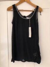 Supremebeing Urban Outfitters Size L 12 Black Cotton Vest Top RRP £40 BNWT