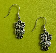 Detailed Owl Earrings by YoursTrulyScotland on Etsy.