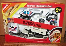 Buddy L Nasa Discovery Space Shuttle Semi Jeep Helicopter 1984 Steel Toy Set Nib