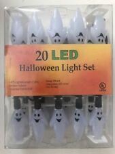 Halloween 20 Led Halloween Light Set Ghosts 6 Foot Ul Listed Nip