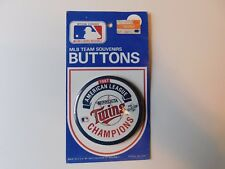1987 Minnesota Twins AL Champs button pin 3.5""