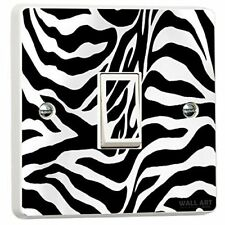 Zebra Print Light Switch Cover Sticker