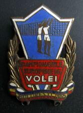 EUROPEAN VOLLEYBALL CHAMPIONSHIPS BUCHAREST, ROMANIA 1955 ENAMEL BADGE