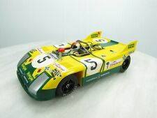 Porsche 908/3 Slot Car Fly Classic 1/32 - #5 Yellow Green - Le Mans 1972 - Used