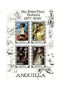 Anguilla MNH #304a Souv Sheet Art Paintings Rubens 1977 A296