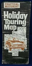 "PRACTICAL MOTORIST HOLIDAY TOURING MAP OF GREAT BRITAIN = 1"" TO 10 MILES, 1965"