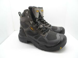 "Keen Men's Concord 6"" Waterproof Steel Toe Work Boot Gray/Black Size 11D"