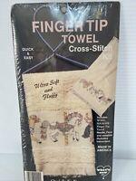 Carousel Horses Finger Tip Towel Cross Stitch  Kit New Wall Hanger NEW Vtg