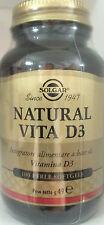 Solgar Natural Vita D3 Integratore alimentare 100 Perle