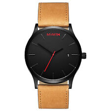 ORIGINAL MVMT Watches Black Face With Tan Leather Strap Men's Classic Watch